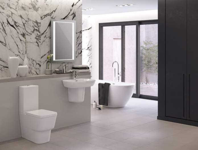 On a ici une salle de bain classique sans jacuzzi. On retiendra la déco tout en blanc aux accents minimalistes; Très agréable. https://www.flickr.com/photos/133418222@N05/17783485300