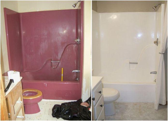 repeindre un carrelage dans une salle de bain