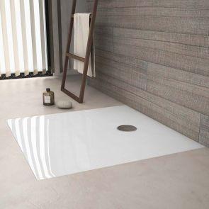 receveur de douche à encastrer en solid surface