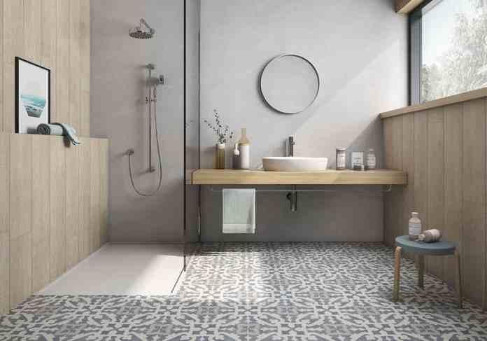 salle de bain aménagée avec une douche italienne