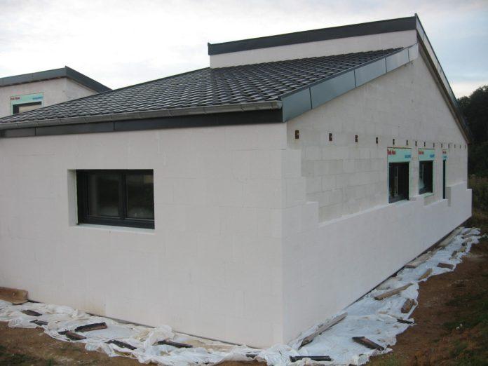 Une maison réalisée en Siporex