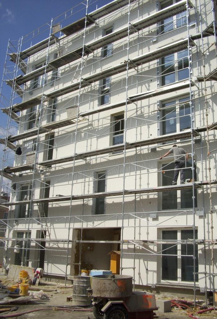Exemple d'un ravalement de façade d'un immeuble.