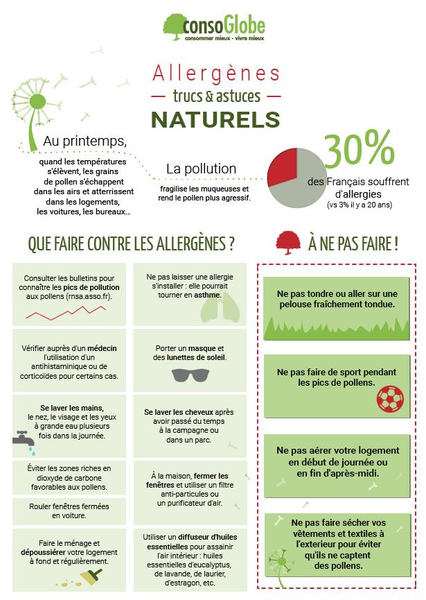 Trucs et astuces naturels contre les allergnes  la fiche