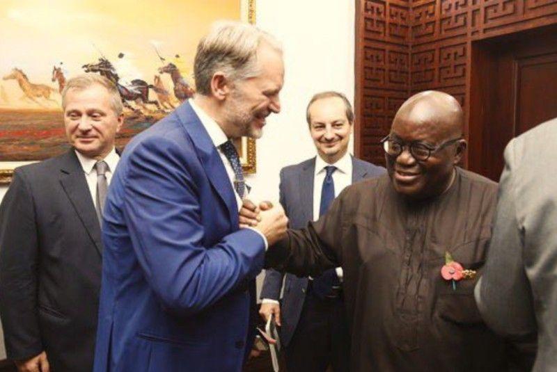 Console Taricone con Nana Addo Dankwa Akufo-Addo President Ghana