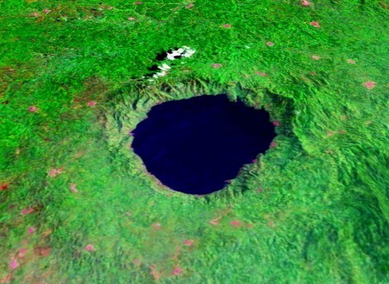 Il cratere del Lago Bosumtwi