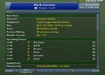 Football Manager 2006 set for Easter kick-off