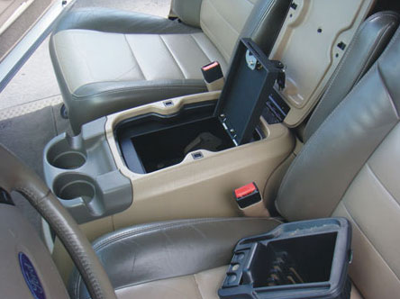 Ford F250 Super Duty Brown Console Vault