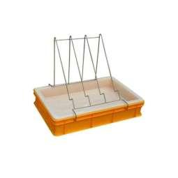 Banco per disopercolare in plastica, altezza 10 cm, con leggio