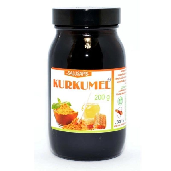 Kurkumel composto a base di miele, curcuma 95%, pepe e propoli 200g