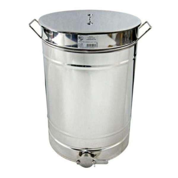 """Maturatore miele 150L acciaio inox con maniglie e valvola in plastica 2"""""""
