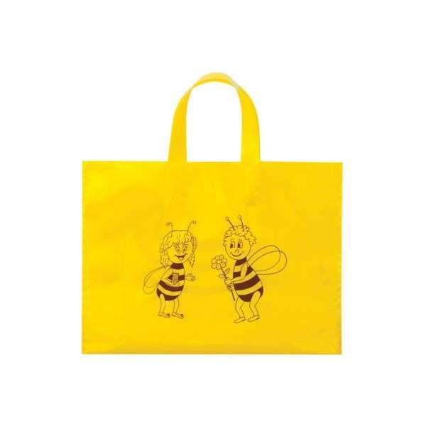Busta regalo gialla con ape, confezione 25 pezzi, 24*18cm