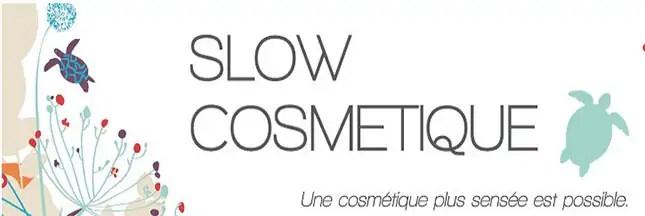 bannière slow cosmetique