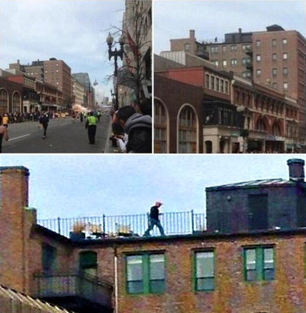 Conspiracy of Saudi Man on the roof in Boston Marathon Bombing