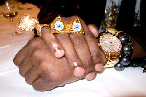 Kanye West's Illuminati Bling