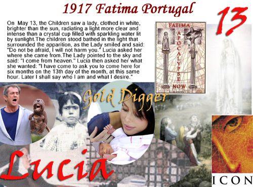 Mel Gibson Fatima Lucia