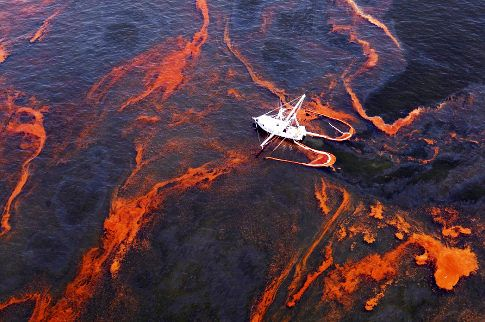 Gulf Oil Spill Red