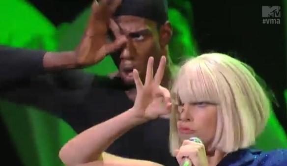 Lady Gaga 666 hand sign