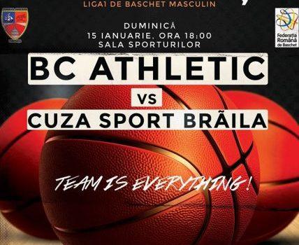 BC Athletic Constanta - Cuza Sport Brăila la Sala Sporturilor Constanta