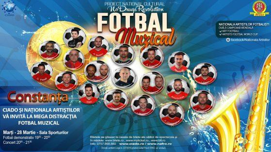 Fotbal Muzical la Sala Sporturilor Constanta