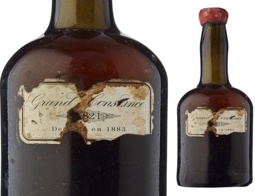 """Historical """"home-coming"""" of 195 year old Grand Constance bottle"""