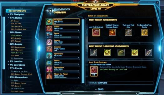 SWTOR Achievements