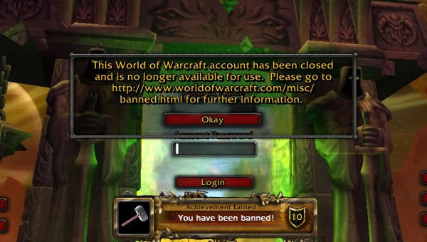 Banned From World of Warcraft
