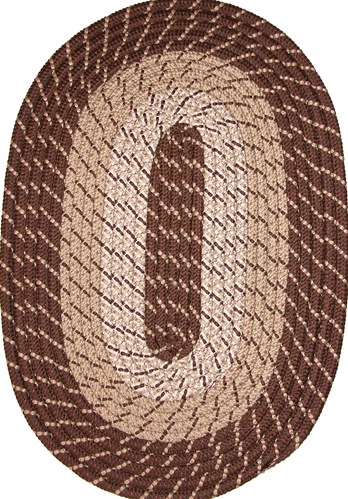 Plymouth 30 x 50 Braided Rug in Brown