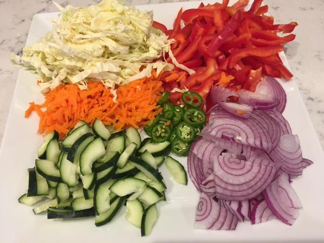 Asian Noodles Salad vegetables