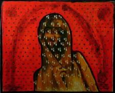 Cielo rojo 2016. Óleo sobre tela. 100 x 120 cm