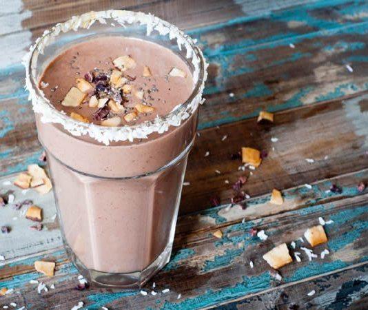 batido de Coco con Chocolate