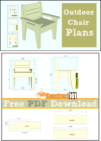 Easy-To-Build Outdoor Chair - PDF Download - Construct101