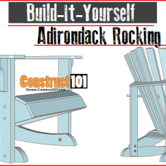Adirondack Chair Blueprints Alite Mayfly Rocking Plans Construct101