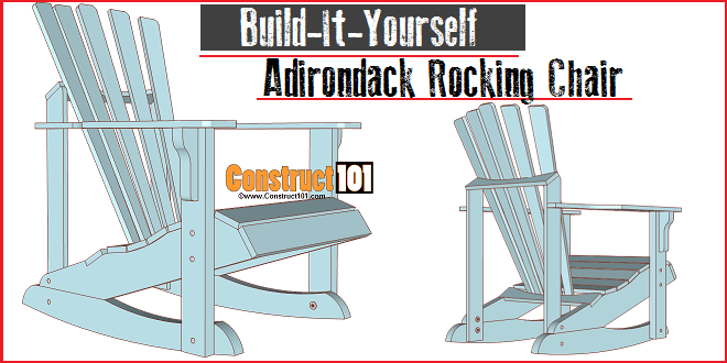 adirondack chair plan old wooden rocking plans construct101