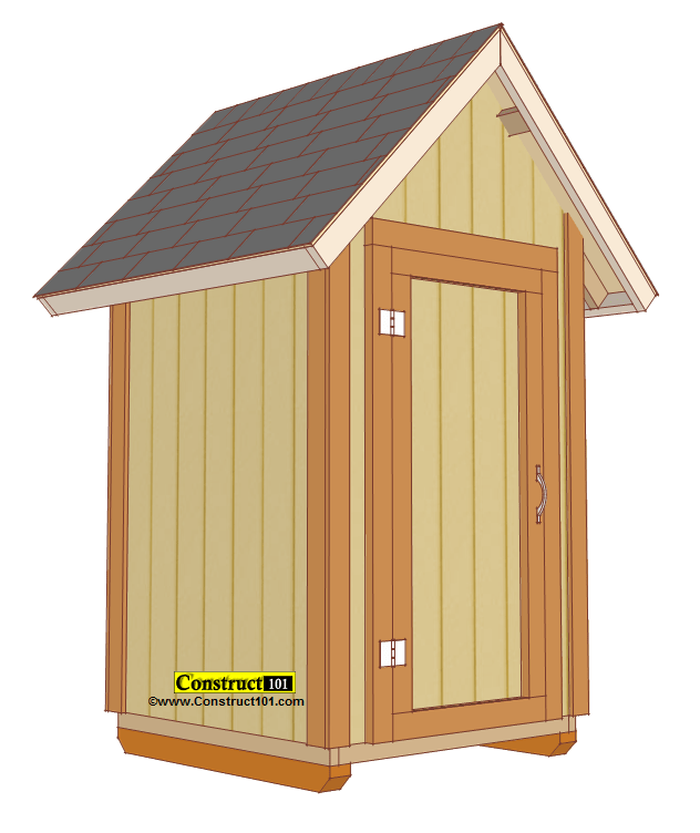 Small Garden Shed Plans 4x4 Gable Shed  Construct101