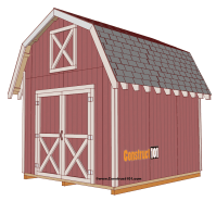 Free Gambrel Roof Storage Shed Plans