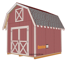 Gambrel Roof Barn Shed Plans 10 X 10