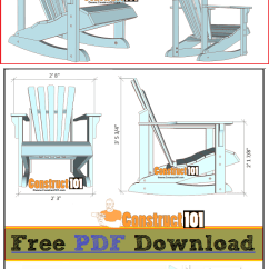Free Rocking Chair Plans And Design Adirondack Pdf Download Construct101 Cutting List Shopping