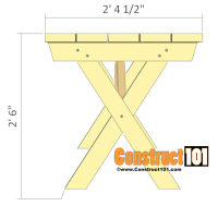 Picnic Table Plans Detached Benches - Free PDF Download