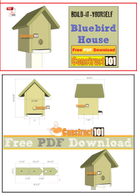 Bluebird House Plans - PDF Download - Construct101