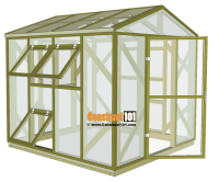 Greenhouse Plans - 8'x8' - Step-By-Step Plans - Construct101
