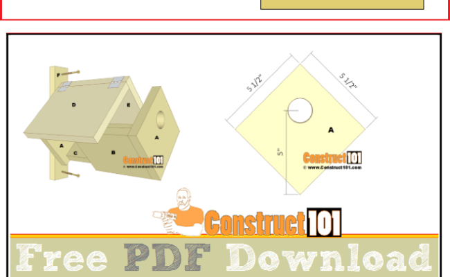 Simple Bluebird House Pdf Download Construct101