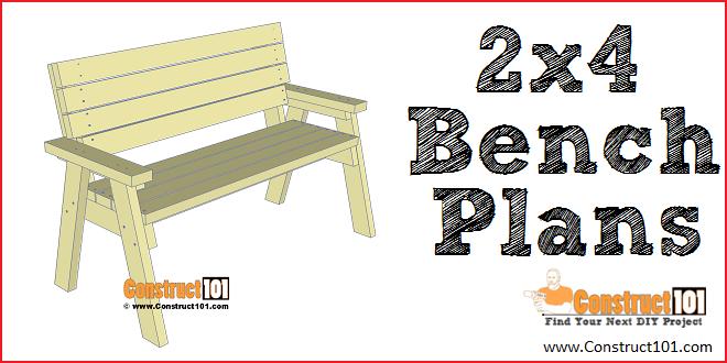 2x4 bench plans step