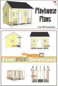 Playhouse Plans - PDF Download - Construct101