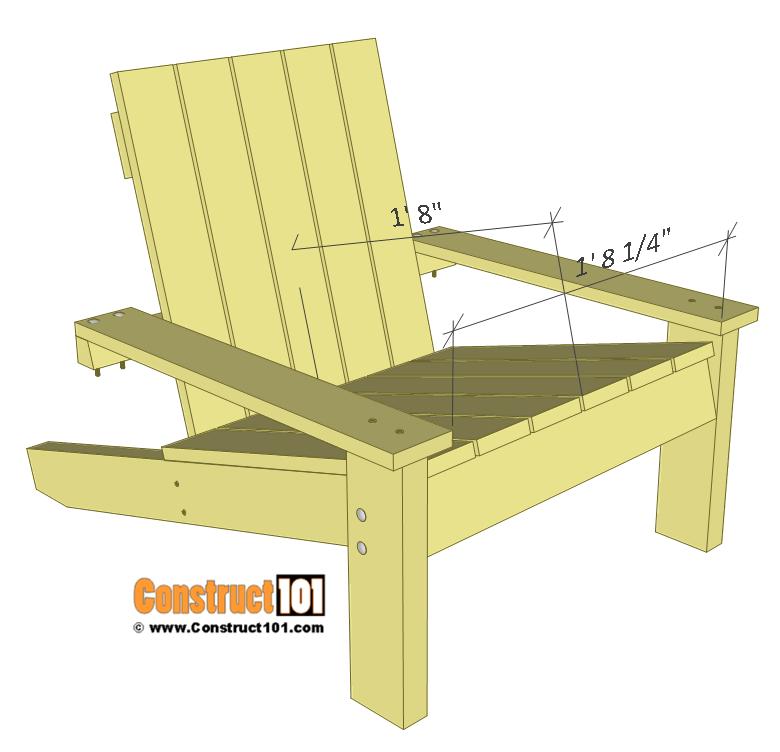 Simple Adirondack Chair Plans  DIY StepByStep Project