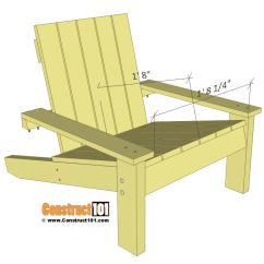 Adirondac Chair Plans Office Exercises Simple Adirondack Seat Details Construct101