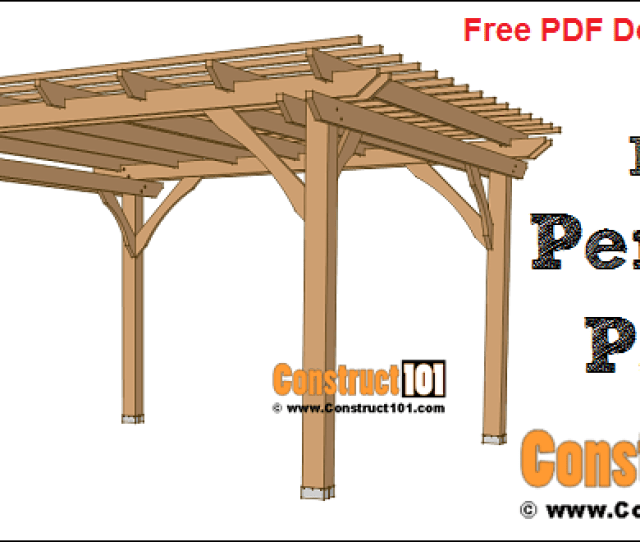 X Pergola Plans Free Pdf Download Material List And Drawings At Construct