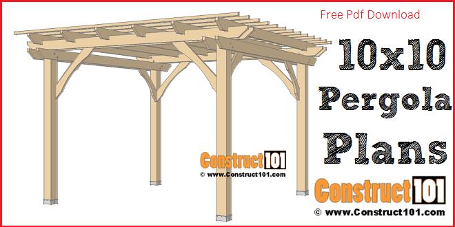 simple diy pergola plans free pdf