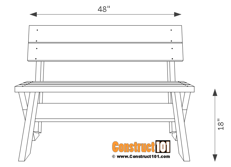 2x6 outdoor bench plans construct101