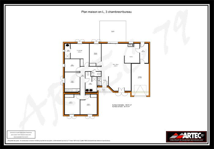 Très Plan De Maison En V Gratuit. Trendy Dessiner Un Plan De Maison  FZ16