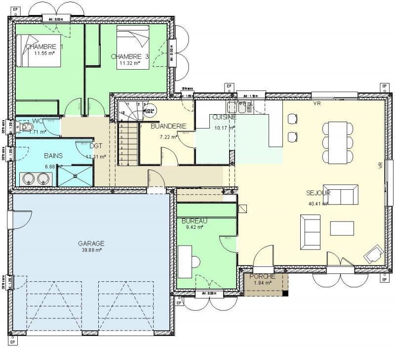 Modele Plan Maison Etage Gratuit